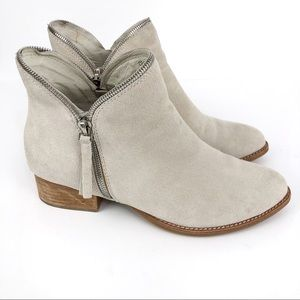 JEFFREY CAMPBELL Crockett Ankle Booties Taupe 7.5